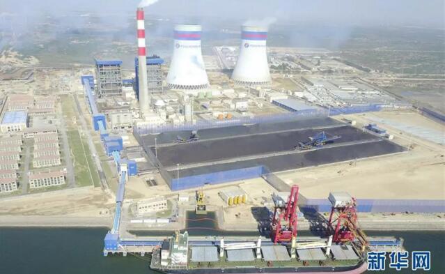 中巴经济走廊首个落地大型能源项目——卡西姆港燃煤电站全景