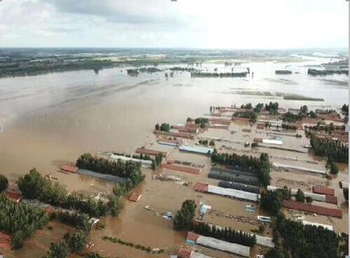 寿光水灾被淹村庄
