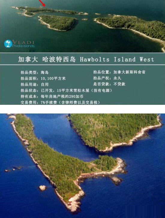 哈波特西岛的海岛